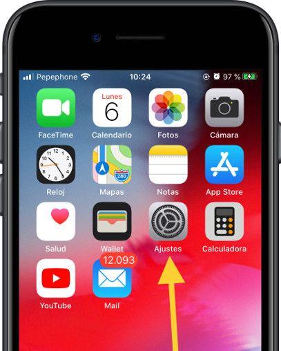 Icono ajustes iOS
