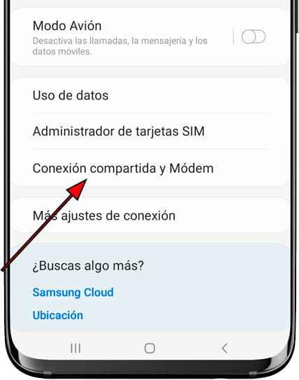 Anclaje a red y zona Wi-Fi Android