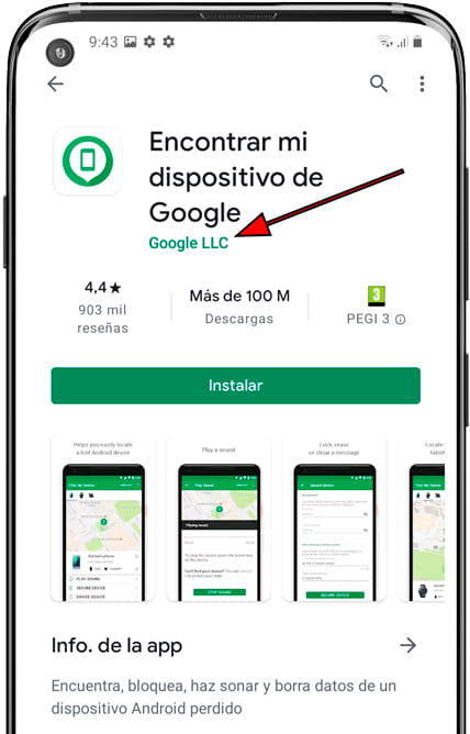 Encontrar mi dispositivo Google app