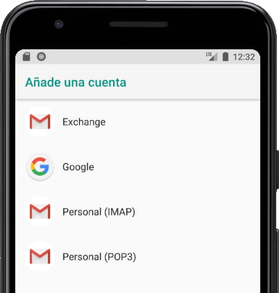 Tipos cuenta correo Gmail