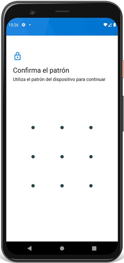 Patrón de desbloqueo Android