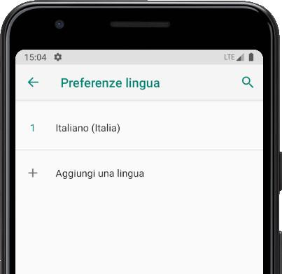 Preference lingua Android