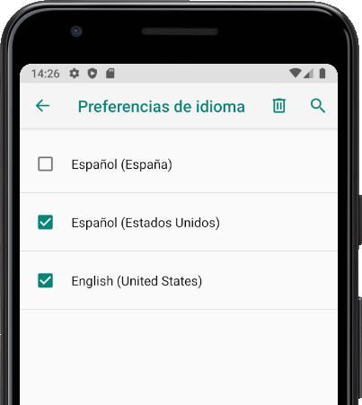 Eliminar idiomas Android