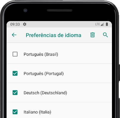 Remover idiomas do Android