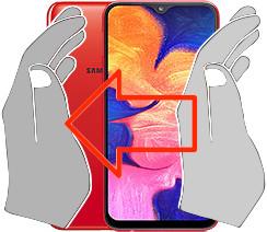 Captura de pantalla en  Samsung Galaxy A10