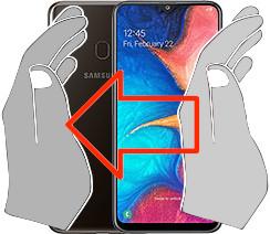 Captura de pantalla en  Samsung Galaxy A20