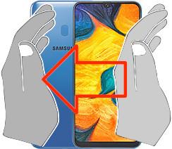 Captura de pantalla en  Samsung Galaxy A30
