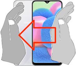 Captura de pantalla en  Samsung Galaxy A30s