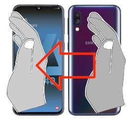 Captura de pantalla en  Samsung Galaxy A40s