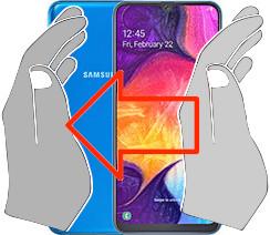 Captura de pantalla en  Samsung Galaxy A50