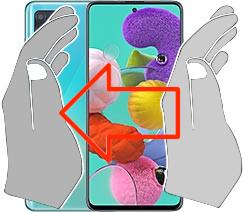 Captura de pantalla en  Samsung Galaxy A51
