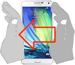Captura de pantalla en  Samsung Galaxy A7