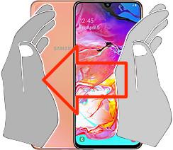 Captura de pantalla en  Samsung Galaxy A70