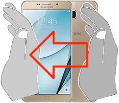Captura de pantalla en  Samsung Galaxy A9 Pro (2016)