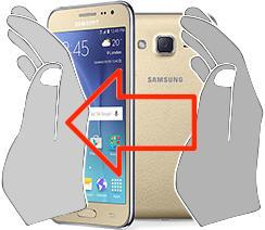 Captura de pantalla en  Samsung Galaxy J2