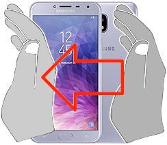Captura de pantalla en  Samsung Galaxy J4
