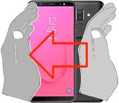 Captura de pantalla en  Samsung Galaxy J8