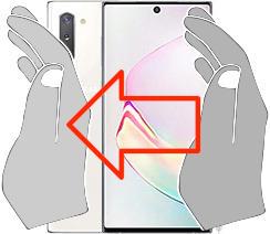 Captura de pantalla en  Samsung Galaxy Note10+ 5G