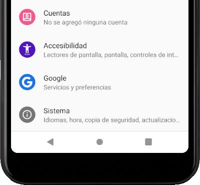 Cuentas Android