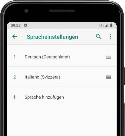 Sprache hinzufügen Android